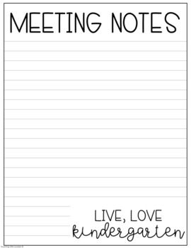 graphic regarding Notes Printable referred to as Electronic and Printable Conference Notes Webpages