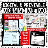 Digital and Printable Morning Meeting BUNDLE with Real Photos