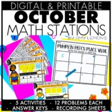 Digital and Printable October Math Tasks and Stations