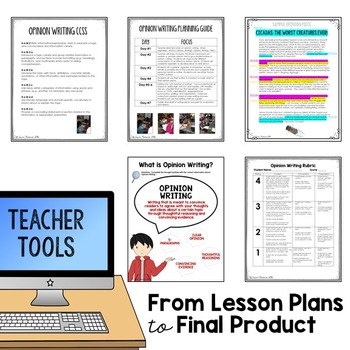 Digital and Printable Opinion Writing Made Easy for Google Slides Grades 4-6