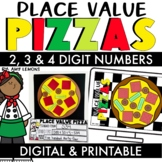 Digital and Printable Place Value Pizzas
