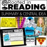 Digital and Printable Reading Toolkit: Summaries and Central Idea