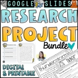 Digital and Printable Research Projects   Distance Learnin