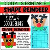 Digital and Printable Shape Reindeer