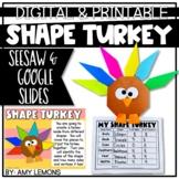 Digital and Printable Shape Turkey