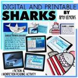 Digital and Printable Shark Reading Activities