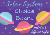 Digital and Printable Solar System Choice Board Project