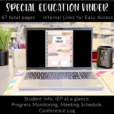 Digital and Printable Special Education Planner and Data C