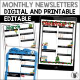 Editable Digital Monthly Newsletters