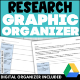 Digital and Ready-to-Print RESEARCH GRAPHIC ORGANIZER Rese