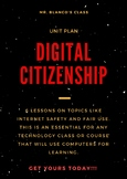 Digital citizenship and internet safety unit with middle and high school