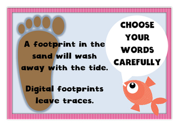 Digital citizenship / internet safety display posters
