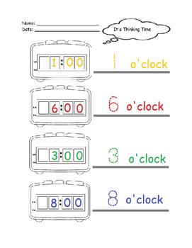 Digital clocks: Preschoolers, Autism, and Mental delays.