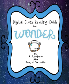 Digital close reading guide: Wonder by R.J. Palacio