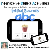 Distance Learning ⋅ ABC letter sounds ⋅ Interactive PDF an