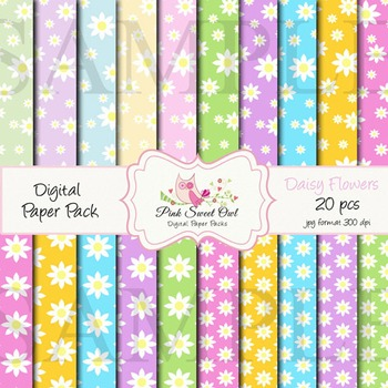 Digital file - Daisy paper background