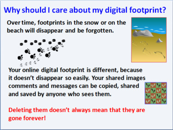 Digital footprints assembly and lesson for e-safety (Grades 2-5)