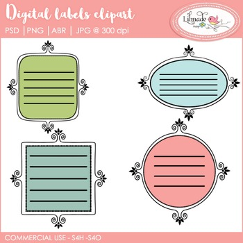 Digital labels, digital label templates