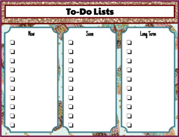 "Digital or Printable Planner using Google Slides ""Glitter and Feathers"""