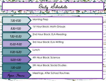 Digital or Printable Teacher Planner for Google Slides