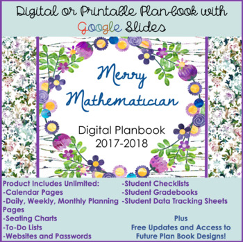 Digital/Printable Planner for Google Slides (Updated 2018/2019)