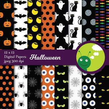 Digital paper: Halloween