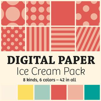 Digital paper – Ice Cream Pack