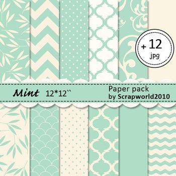 Digital paper Mint