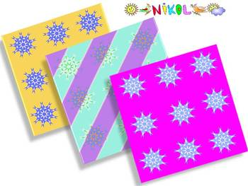 Snowflakes - Digital paper - Clip Art - Personal or Commercial Use