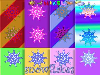 Snowflakes - Digital paper - Clip Art - Personal or Commer