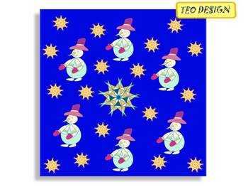Snowmen - Digital paper - Clip Art - Personal or Commercial Us