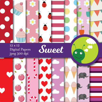 Digital paper - Sweet (girls)