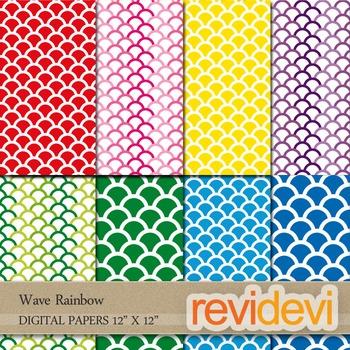 Digital paper: Wave rainbow