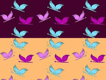 Butterflies - Digital paper - Clip Ar t-  Personal or Commercial Use