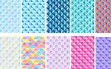 Digital paper, coloured backgrounds geometric shapes