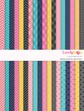 Digital paper seamless background, 36 basic patterns (LP001A)