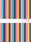 Digital paper seamless background, 36 basic patterns (LP001C)