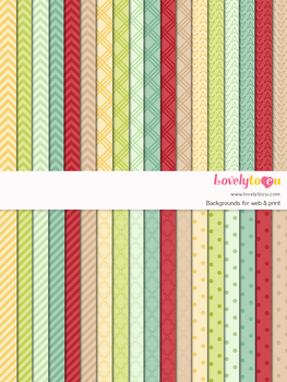 Digital paper seamless background, 36 basic patterns (LP002A)