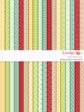 Digital paper seamless background, 36 basic patterns (LP002B)