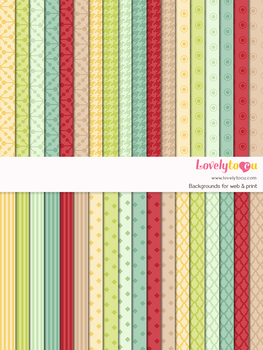 Digital paper seamless background, 36 basic patterns (LP002B)