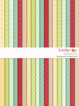 Digital paper seamless background, 36 basic patterns (LP002C)
