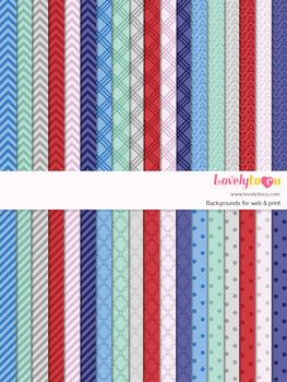 Digital paper seamless background, 36 basic patterns (LP003A)