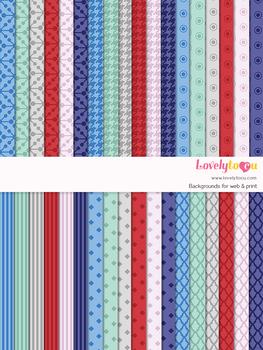 Digital paper seamless background, 36 basic patterns (LP003B)