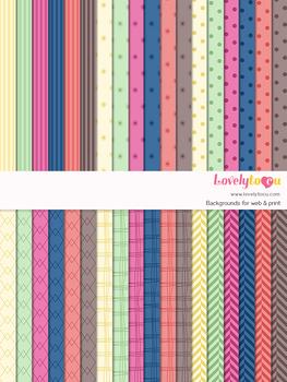Digital paper seamless background, 36 basic patterns (LP006B)