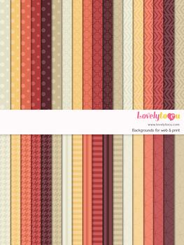 Digital paper seamless background, 36 basic patterns (LP010)