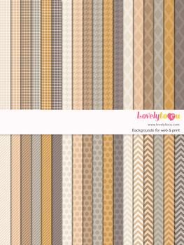 Digital paper seamless background, 36 basic patterns (LP011)