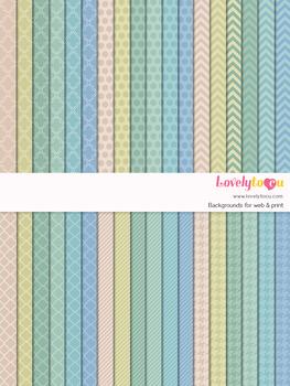 Digital paper seamless background, 36 basic patterns (LP013)