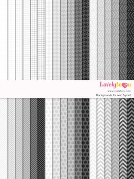 Digital paper seamless background, 36 basic patterns (LP017)