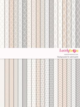 Digital paper seamless background, 36 basic patterns (LP020)
