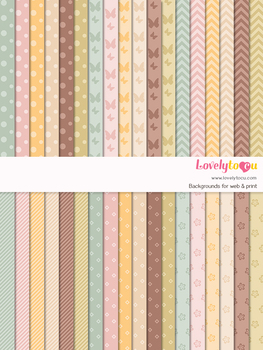 Digital paper seamless background, 36 basic patterns (LP022A)